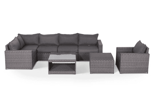 gray outdoor sectional