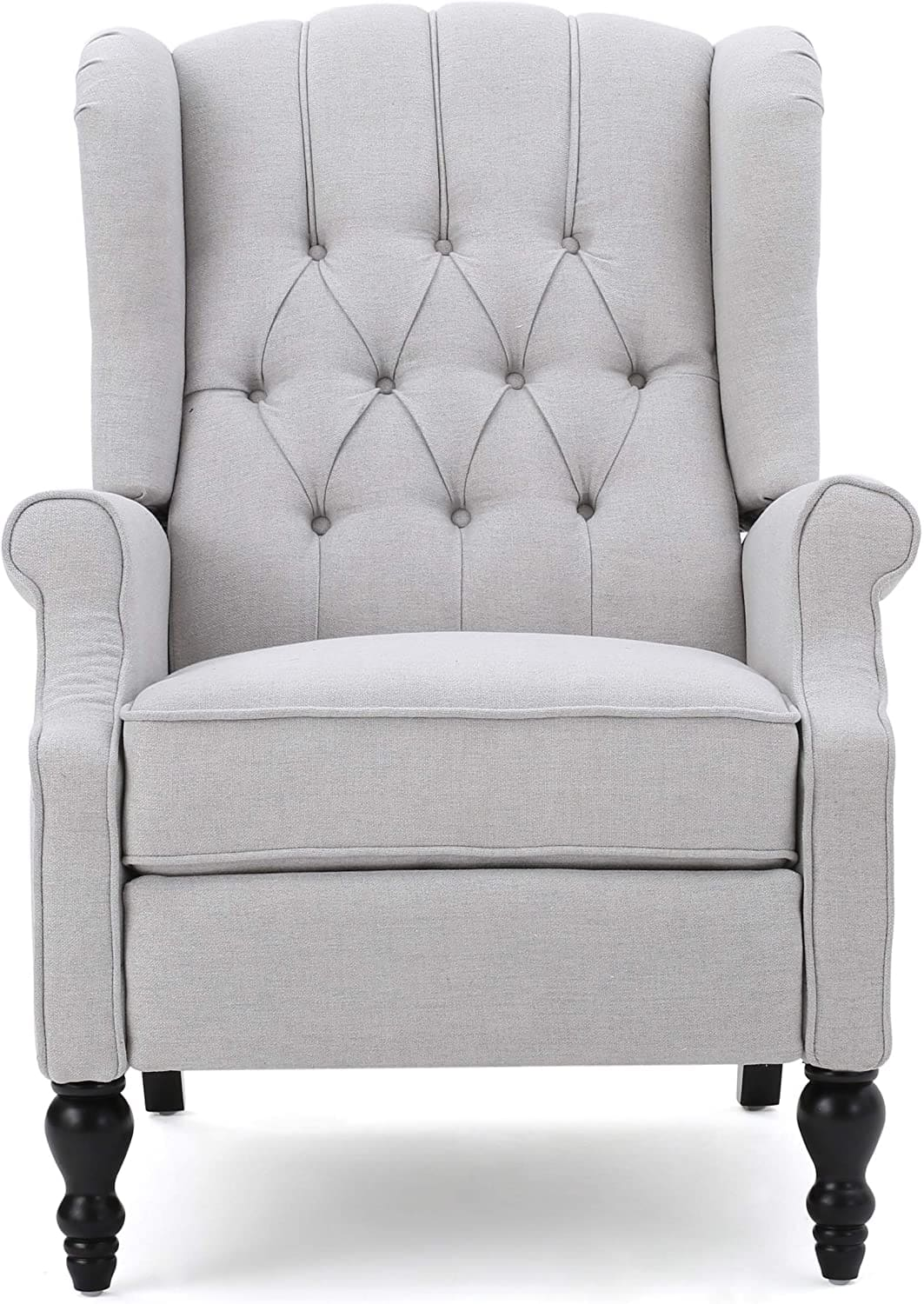 grey fabric recliner chair