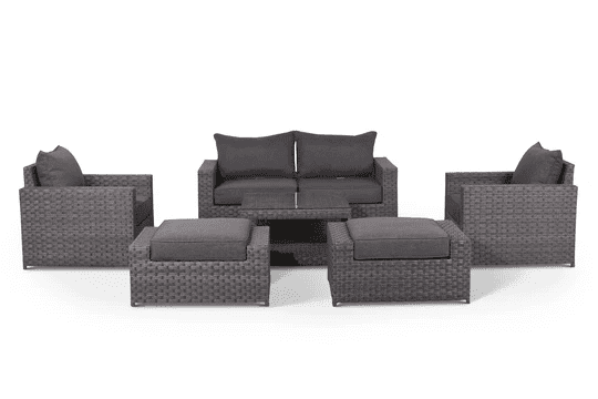 outdoor loveseat and chairs set