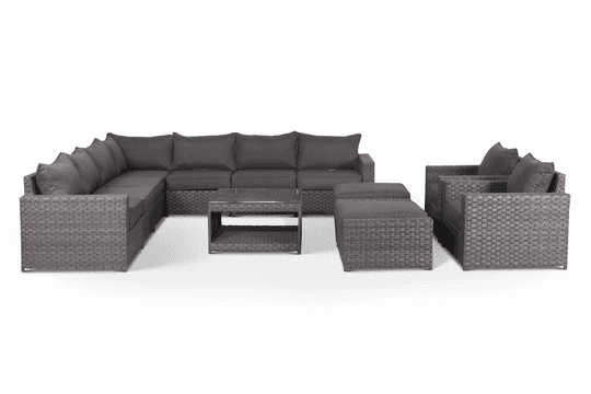 outdoor sectional with olefin fabric
