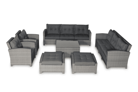 outdoor sofa sectional 11 piece resin couch set