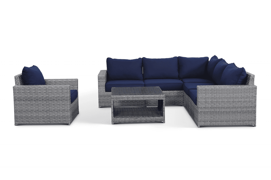 outdoor wicker sectional couch