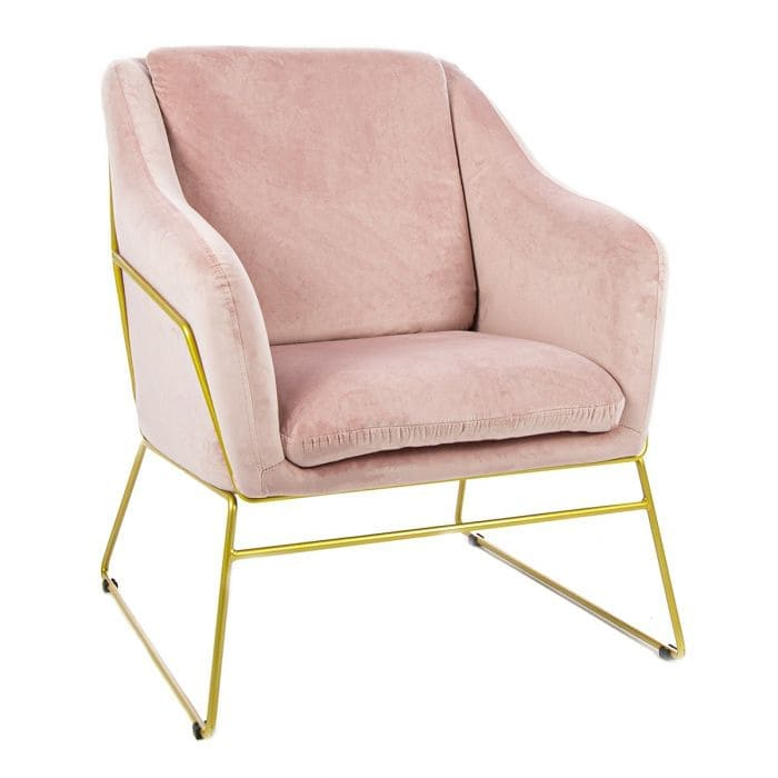 pink bedroom chair - pink accent chair