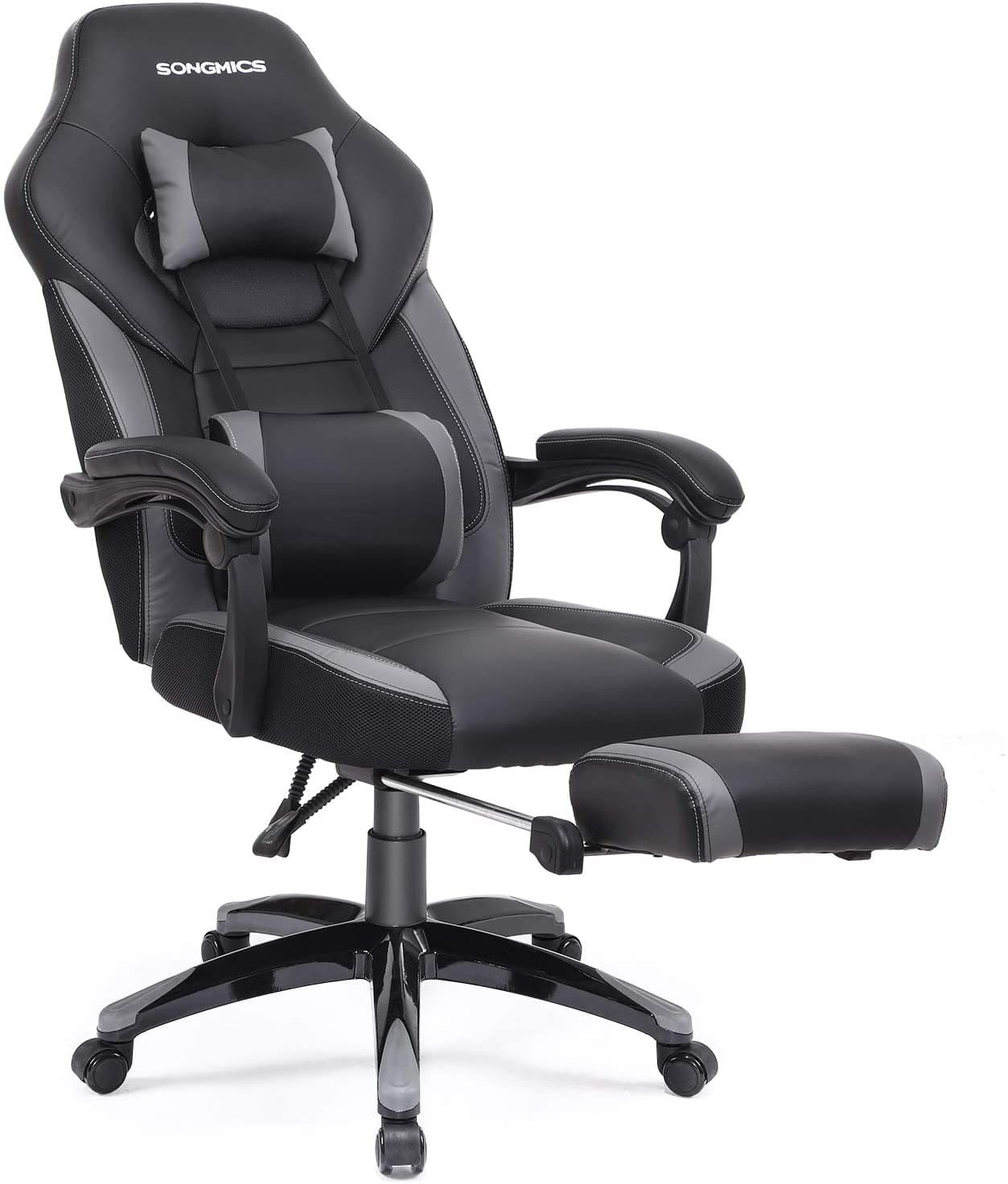 racing desk chair with footrest