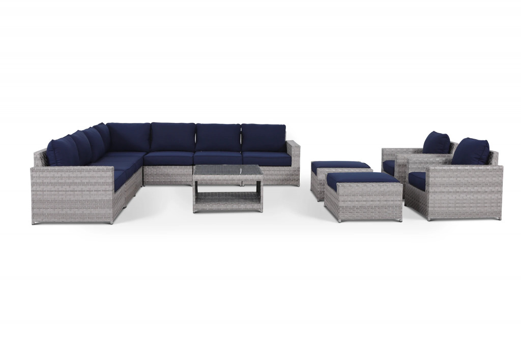 rattan outdoor sectional