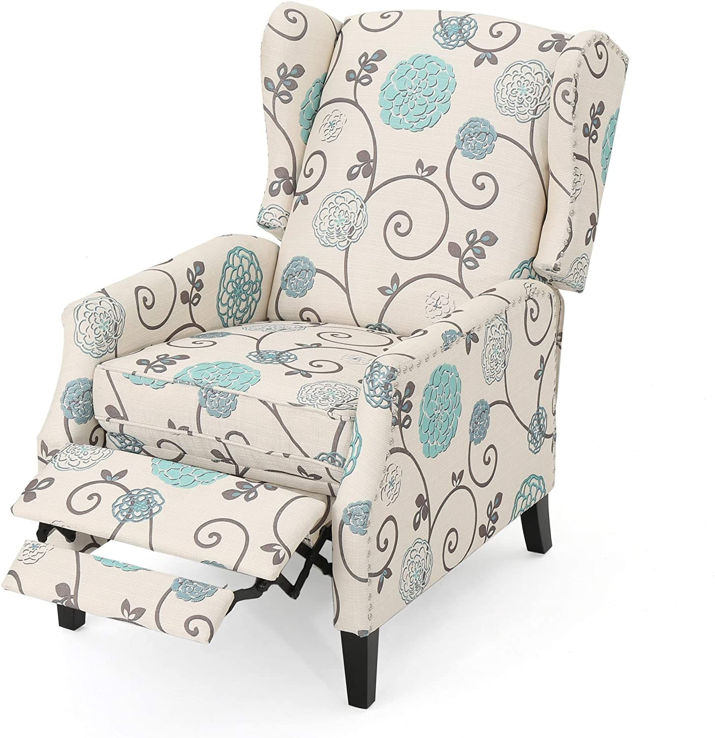 traditional wingback recliner