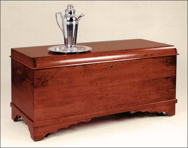 cherry wood toy chest