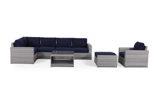 outdoor patio wicker furniture sofa sectional 8pc resin couch set