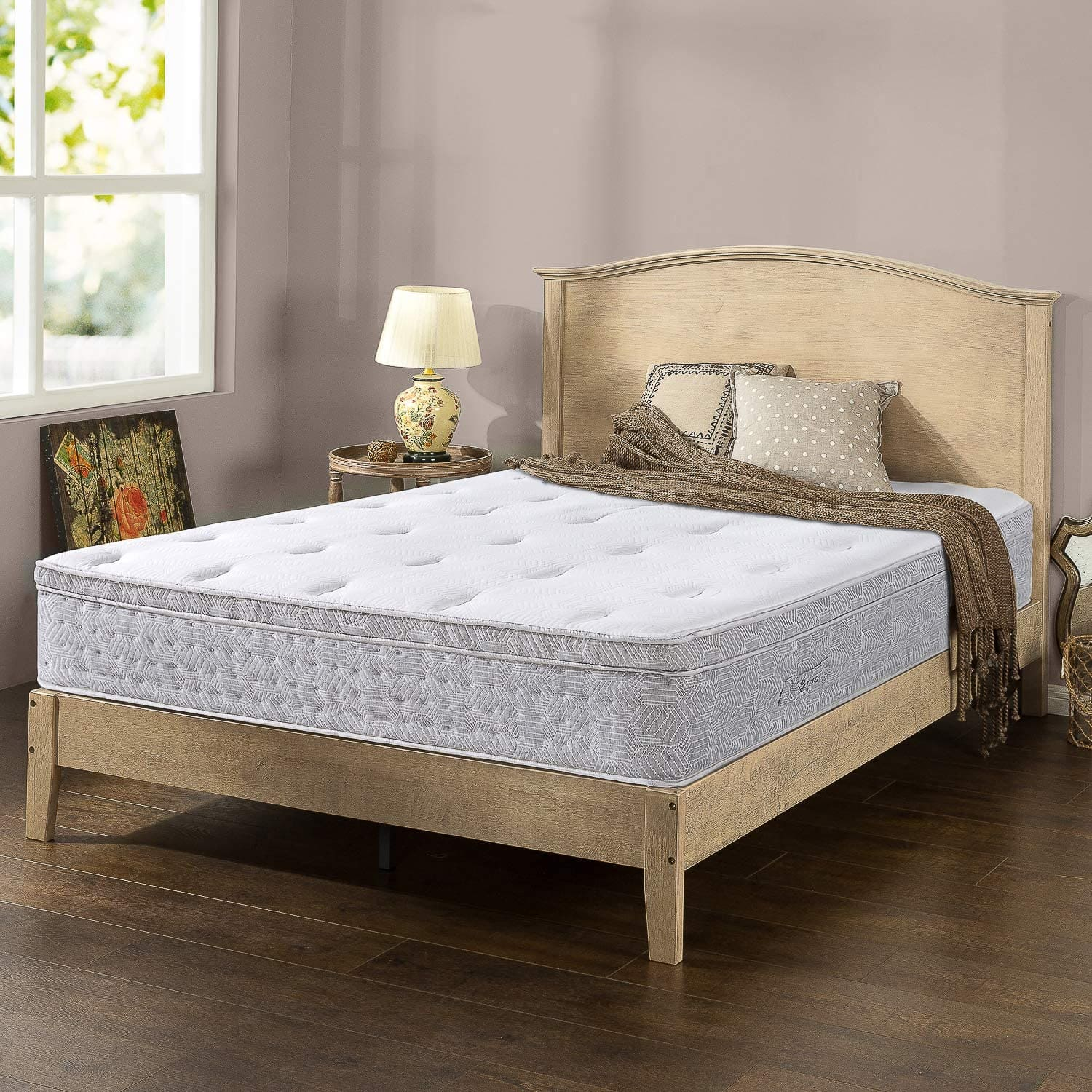 pressure relief euro top pocketed icoil® hybrid mattress