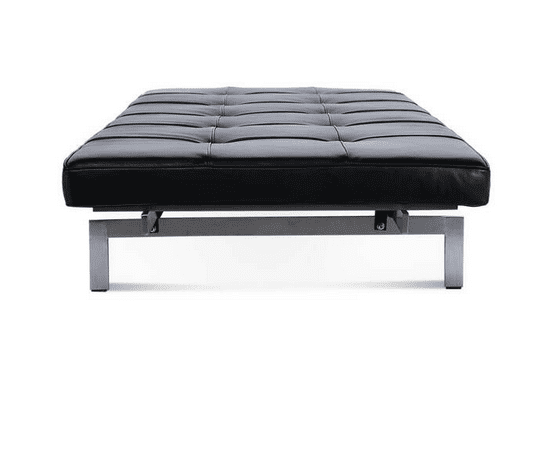 black leather day bed