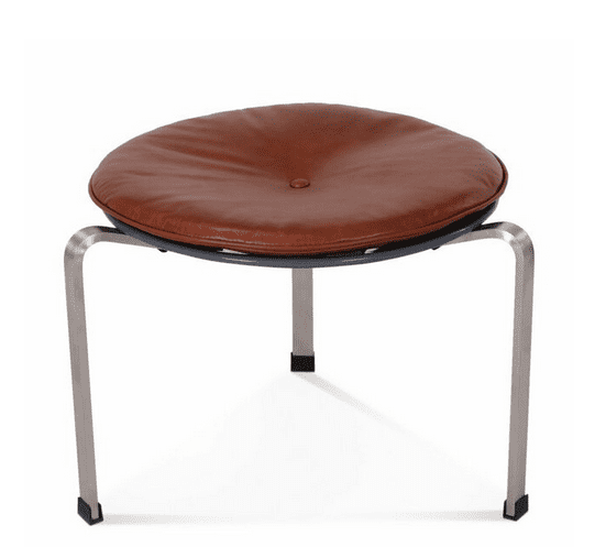 leather and metal stool