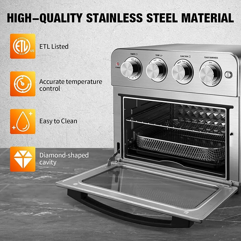 oil free air fryer and toaster oven combo 2